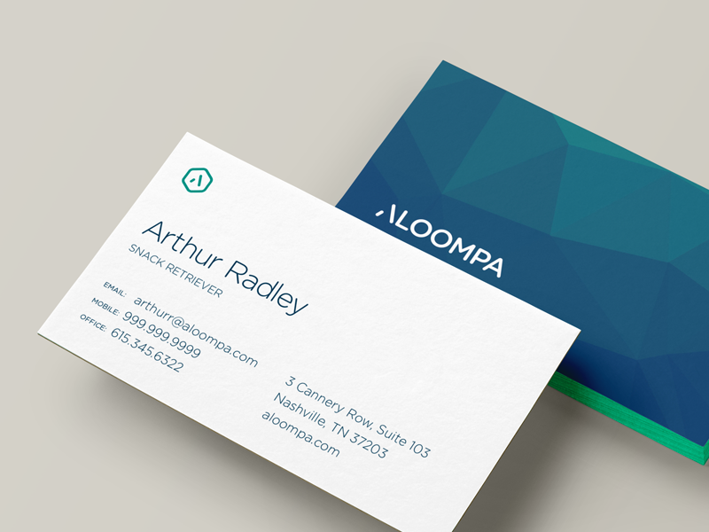 Business card by nick sigler dribbble working on some layouts for aloompa business cards this is my favorite so far colourmoves