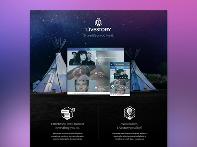 New Livestory Feature website festival bonnaroo livestory product feature aloompa nashville