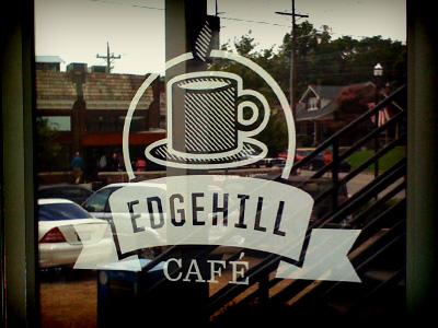 Edgehill Café Signage signage window decal coffee nashville