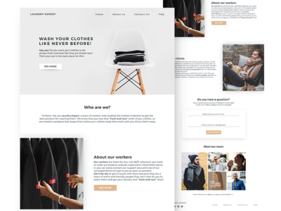 Laundry Expert Landing page