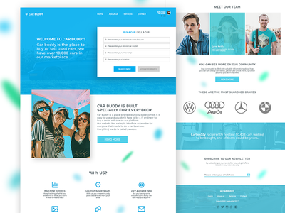 Car Buddy Landing Page