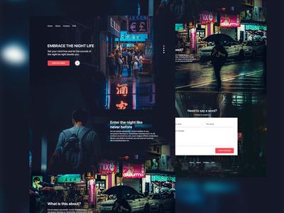 Nightlife landing page