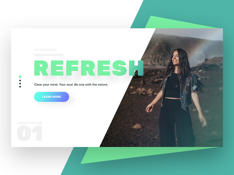 Refresh app challenge landing page landing page landing clothes colors vector typography design illustration website web page white space web-page landing ux clean ui page web