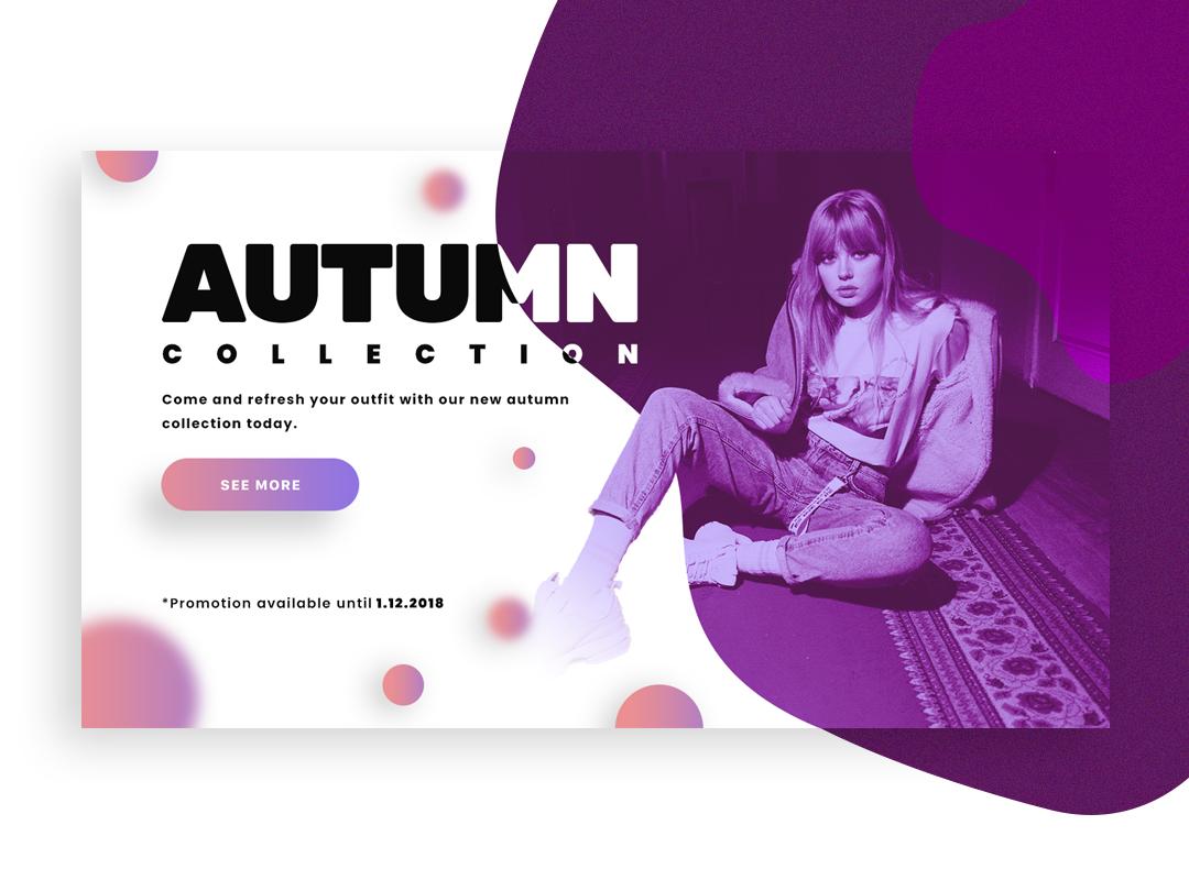 Autumn Collection logo app clothes typography magenta purple design colors white space website web page landing page web-page landing page landing landing ux ui page clean web