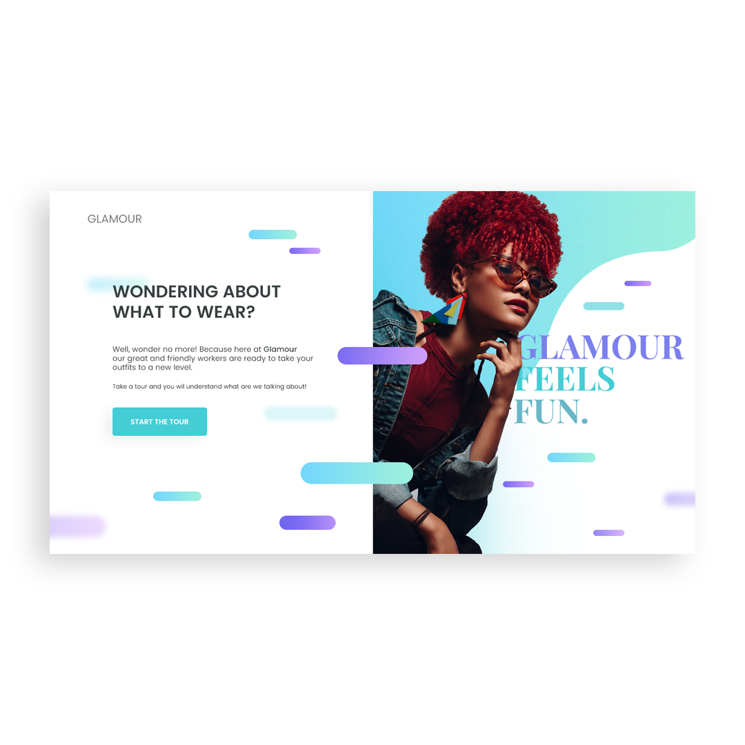 Glamour purple type clothes logo app design typography colors white space website web page landing page web-page landing page landing landing ux ui page clean web