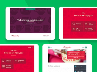 Principality Kiosk App design building society customer service products tablet ipad kiosk in store app principality