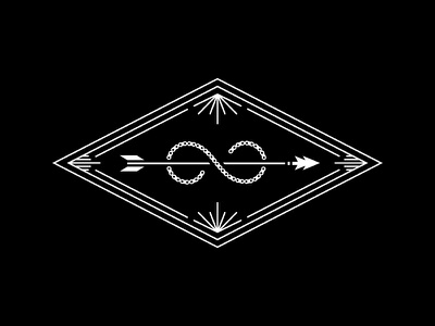 #2 bike infinity arrow badge crest