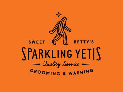 Sweet Betty's Sparkling Yetis logo typography yeti