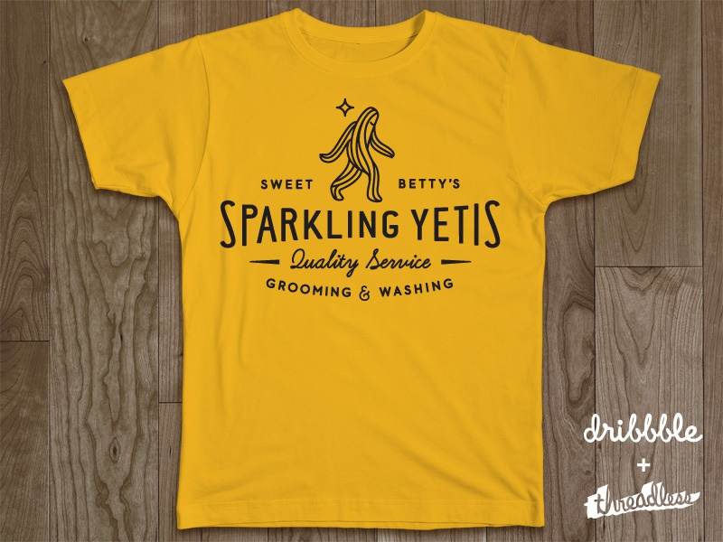 Sweet Betty's Sparkling Yetis shirt logo yeti logotype mark sparkle