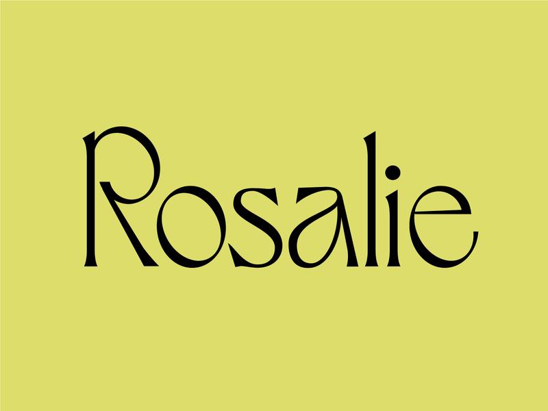 Rosalie serif typeface art nouveau typography logotype type