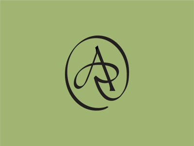 AR Monogram emblem typography symbol monogram