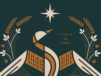 BEERBIRD hops beer animal loon geometric