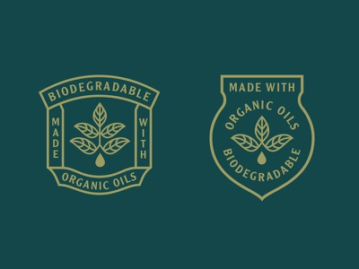 Badges drop organic leaf callout badge
