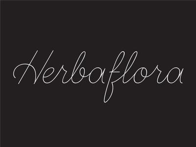 Herbaflora delicate monoline script