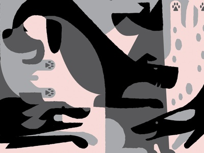 Doggies animal geometric texture shapes illustration woof pups puppy-doggy puppies doggies dogs