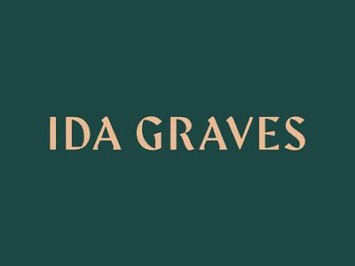 Ida Graves logo typography distillery logotype