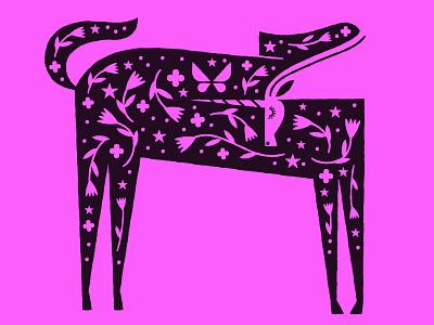 Unicorn beastaweek fairy tale mythology negative space illustration myth flowers stars unicorn