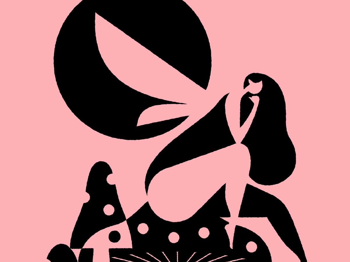 Fairy beast a week mythology geometric negative space illustration fairy