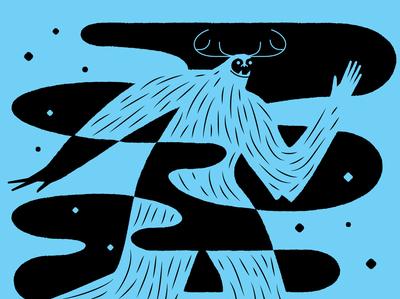 Yeti yeti bigfoot design winter illustration beastaweek