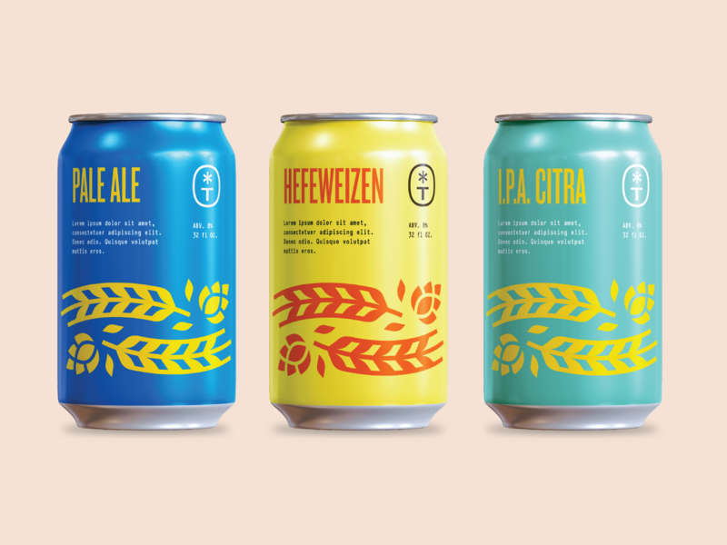 Canned colors packaging beer