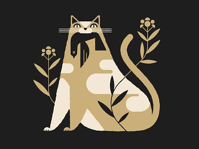 Virtute catalog animal music illustration cutie pie kitten kitty-cat kitty cat