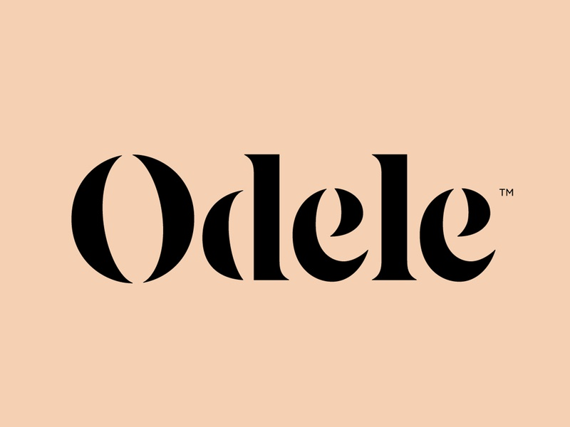Odele typography identity beauty logotype