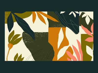 Natural art product skincare illustration botanical floral