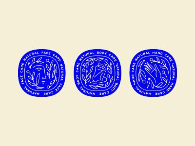WIP floral illustration badges natural skin care