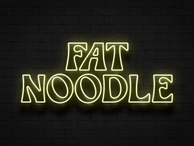 Fat Noodle Neon Concept neon restaurant branding logotype