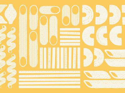 Tasteful Noods food pattern illustration noodles