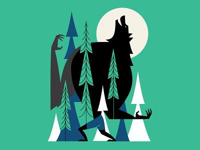 Werewolf legend howl illustration wolf