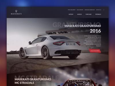 Maserati / Landing Page Re-Design