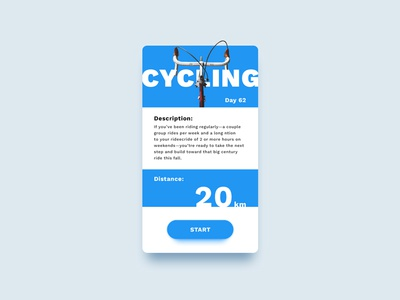 Workout of the Day – Day 62 #DailyUI