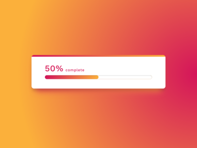 Progress Bar – Day 86 #DailyUI