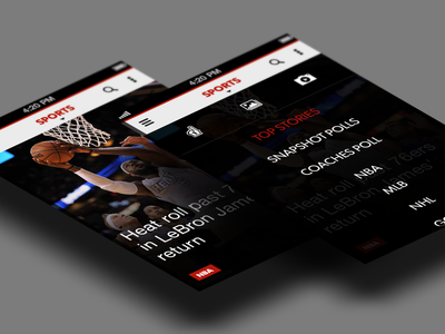 Sports Concept Design / Menu Overlay ios iphone menu overlay clean sleek design ux interaction list awesome flat