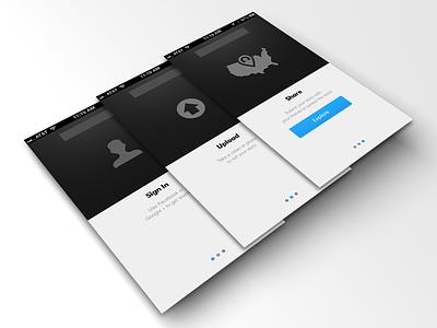 Tutorial / User Ed tutorial user ed iphone ios 7 ipad clean icons wireframes