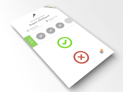Wireframe / Visual wireframe icons maps food menu poll comment feed ios 7
