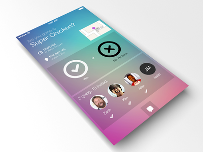 Just Messing Around iOS 7 visual ios 7 blur icon overlay menu iphone ipad android simple wireframes