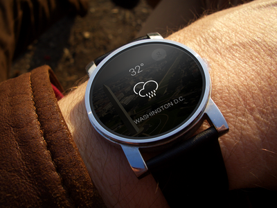 Just Because watch weather android wear smart clean