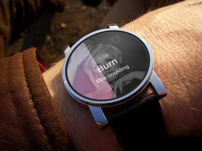 Simple Music Player android wear watch iwatch clean music player iphone