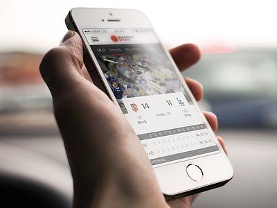MLB Scores sports nav mobile web ios