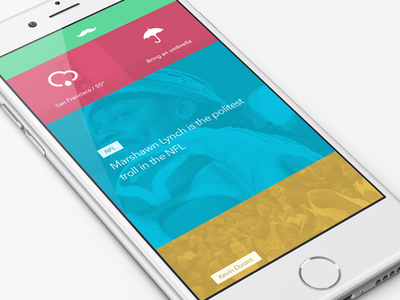 Concept Doodling iphone ios8 ios nav clean icon feed news color tags weather hipster