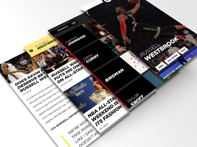 Concept news iphone nav menu clean flat ui ux sections 6 article feed