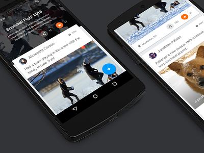 Nexus 5 Material Design menu nav material design android ios iphone nexus 6 5 clean sleek concept