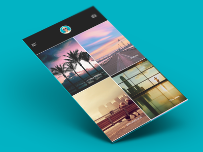 Photos ios sleek clean wireframes iphone nav grid weather profile imaging infographics new