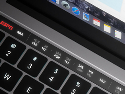 Touch Bar Concept for ESPN scores scores ios os ticker sports touchbar apple pro macbook bar touch