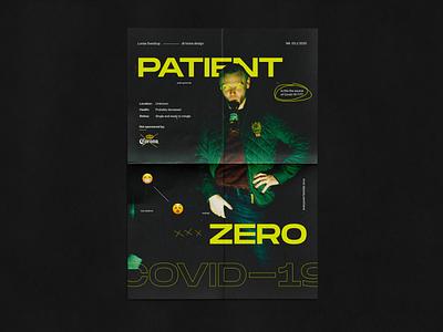 Patient Zero brutalist brutalist design brutalism covid-19 coronavirus corona poster art posters poster editorial design editorial color minimalist color palette typography design modern