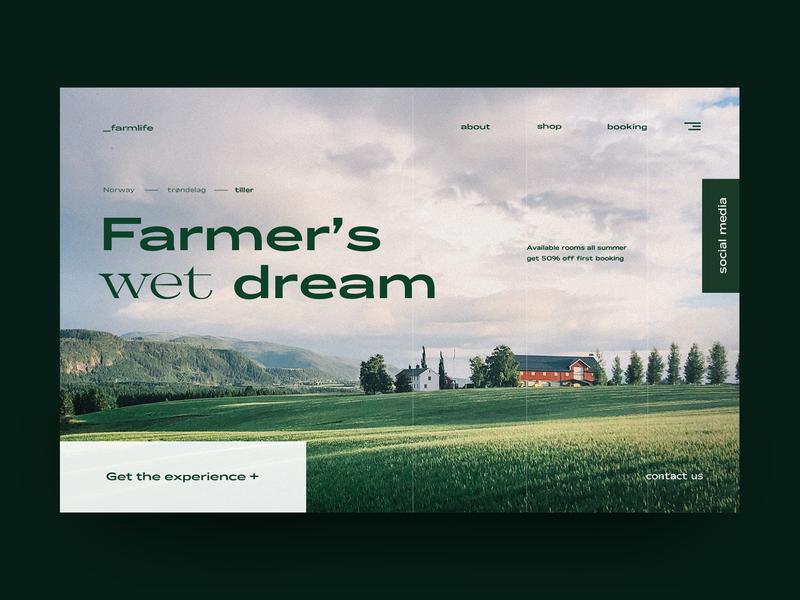 Landing page Farmlife landingpage webdesign farm farmer ux color minimalist typography modern design web design ui design ui landing page