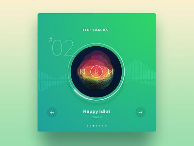 Top Tracks Player web track music player ux ui