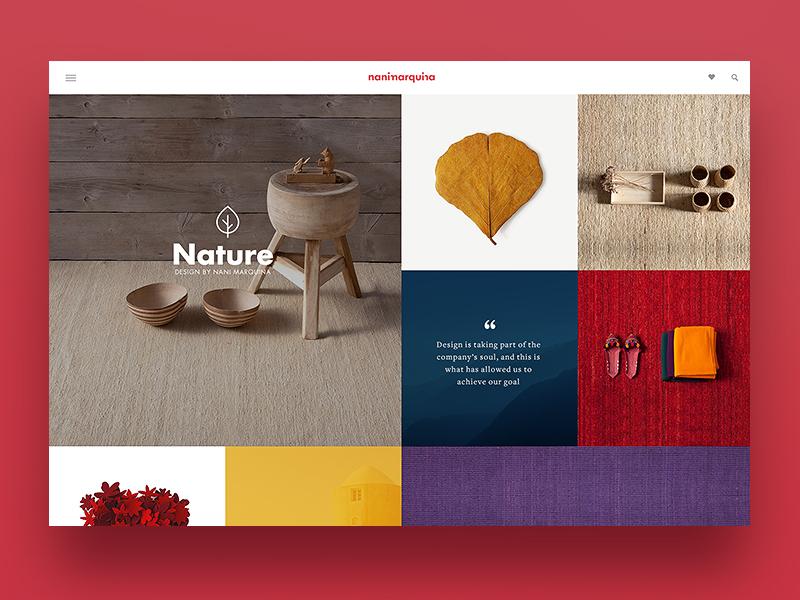 Nanimarquina web design concept mosaic rugs site ecommerce web ui ux